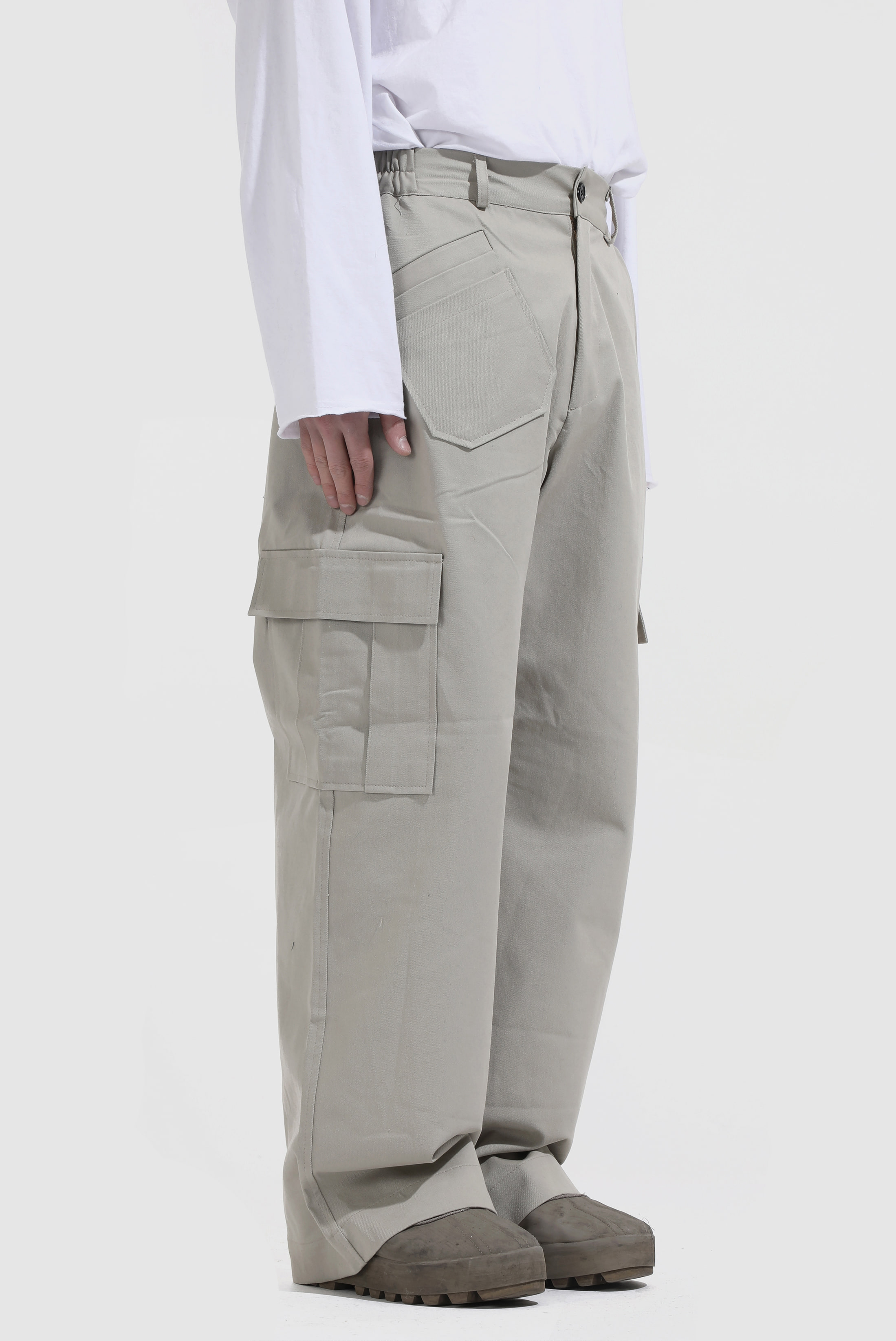 Zip Caro_Wide Pants